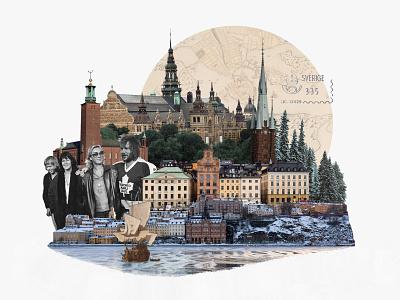 Stockholm stockholm photo illustration photo collage collage 30 day challenge