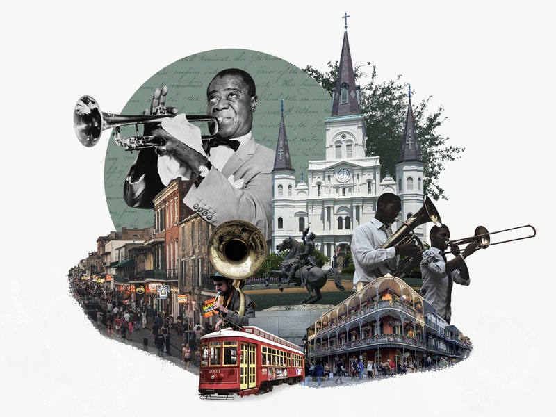New Orleans new orleans photo illustration photo collage collage 30 day challenge