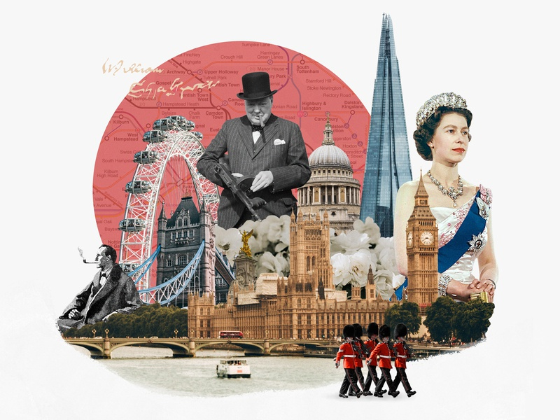 London london photo illustration photo collage collage 30 day challenge