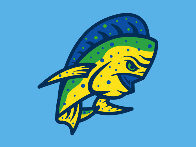 Mahi Mahi Madness mahi mahi clink room hats branding sports branding logo illustration