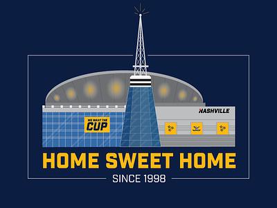 Nashville's Cathedral of Hockey nashville sports hockey stadiums illustration