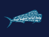Flappy's Fish Bites - Signage & T-shirt graphic
