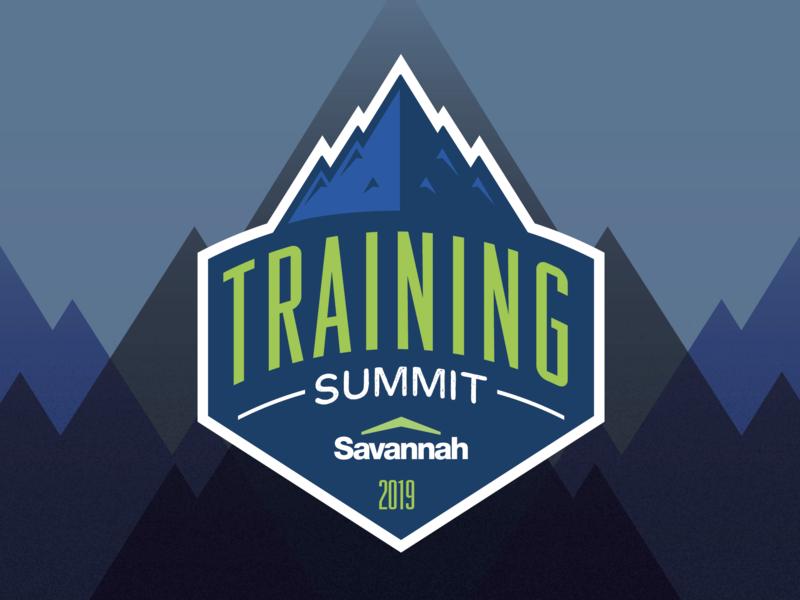 Training Summit illustration summit logos mountains