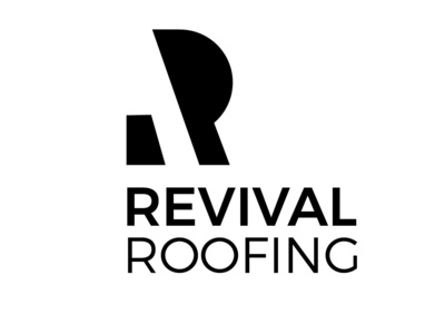 Revival  Roofing branding icon vector logo