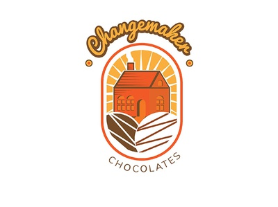 Changemaker Chocolates flat illustration vector branding