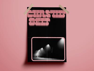 Poster Design: Chastity Belt pixeden mockup texture photoshop pexels design graphicdesign adobe type adobeillustrator adobephotoshop bandposter chastitybelt