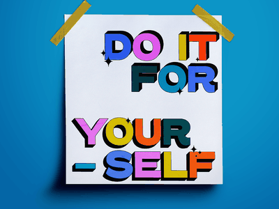 Do It For Yourself etsy etsy shop poster design mockup design graphicdesign adobe
