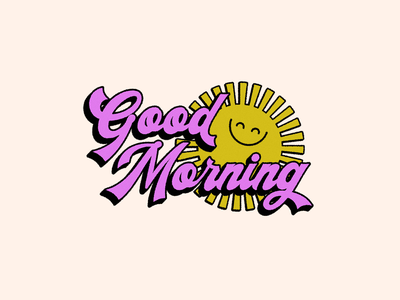 Good Morning design vector adobe creative cloud graphic design vintage design typeface sunshine good morning
