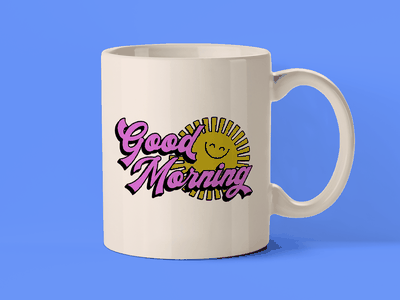 Coffee Mug Design vintage design sunshine good morning creative cloud adobe vector graphic design coffee mug design coffee mug