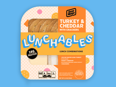 Redesign for Lunchables logo branding branding inspiration graphic design adobe creative cloud package design branding identity lunchables