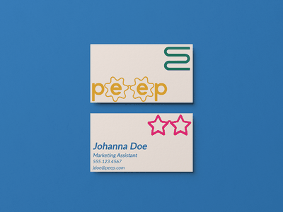 Peep Business Card Concept branding and identity brand identity branding mockup businesscard briefbox