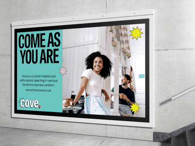 Billboard for Cove billboard design cove briefbox branding graphic design billboard mockup