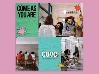 Brand style tile for Cove adobe creative cloud cove marketing materials brand identity briefbox branding brand style tile