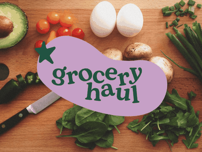 Brand identity and packaging concept for Grocery Haul adobe creative cloud packagingdesign packaging brand identity branding food subscription box