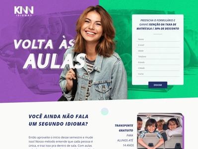 Landing Page - KNN Volta às Aulas