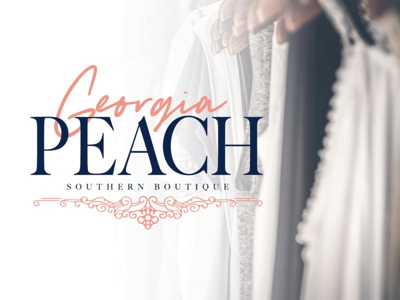 Georgia Peach georgia peach fashion design fashion brand fashion boutique logo boutique southern america lettering illustration branding logo design vector typography