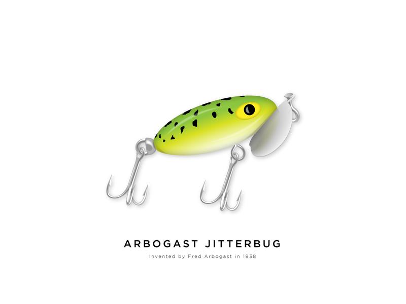Arbogast - Jitterbug frog green vector art vector illustration illustrator art art 2d summer camping outdoors bass icon fishing lure fish illustration artist vector