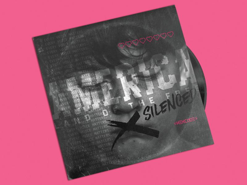 HEXCODE - America Land of the Free xSilenced artist music hexcode america lettering typography vector branding logo illustration design album cover album album art
