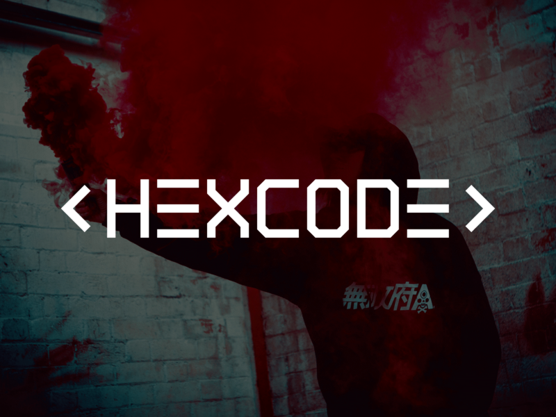 HEXCODE -  Band Logo rock and roll trap music electronic hackers rock star artist music branding typography vector lettering logo design