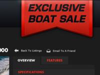 Exclusive Boat Sale Ribbon