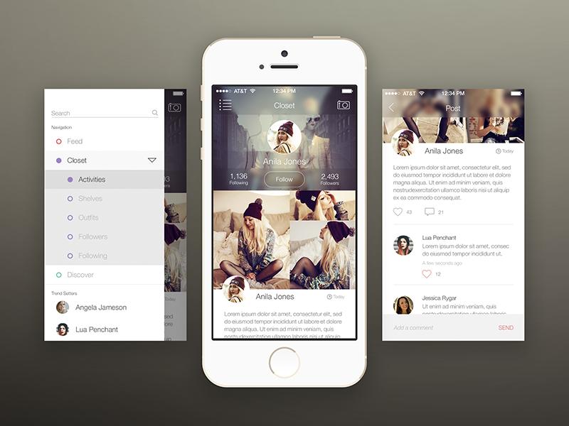 Fashion App Mockup