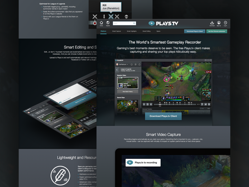 Plays.tv Download Page pc gaming video recording playstv