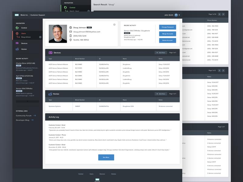 MODE Customer Support Tool mode customer support dashboard