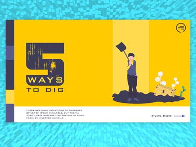 5 Ways To Dig - Minimal Layout Design