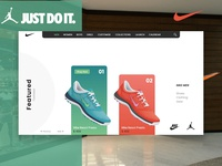 Just Do it - Concept Design of Nike Home Page