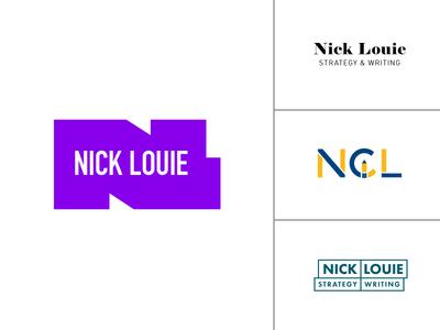 Nick Louie Logo Concepts l c n letter lettering illustration iconic icon branding louie nick logo