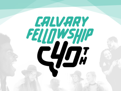 Calvary Fellowship 40th Anniversary Logo