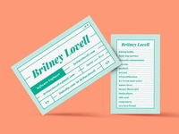 Britney Lovell Business Card