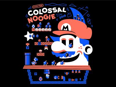 Colossal Noogie 2018 T-Shirt jesus church star yoshi luigi nintendo mario hoodie screenprint shirt