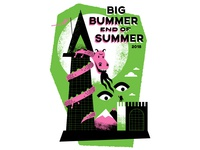 Big Bummer End of Summer 2018 - Camp T-shirt