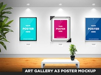 Art Gallery A3 Poster Mockup