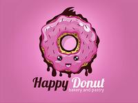 Happy Donut Logo