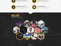 Honeycomb HTML5 – Responsive One Page Template