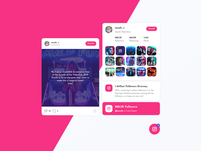 Asgard Social Plugin - Instagram wordpress live followers photo gallery model profile instagram post plugin instagram template ux html template ui instagram stories feed instagram
