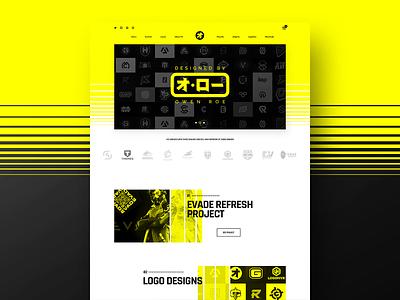 Owen Roe Inspired Landing logos identity brand yellow landingpage ui ux website landing