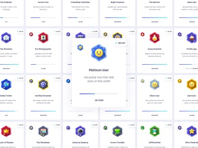 Vikinger Gamification Badges smiley reaction photoshop vector stream social profile network members marketplace illustration group gamification game forum event dashboard community badges