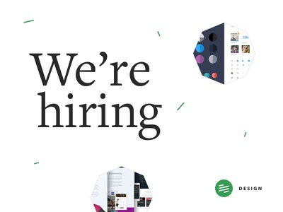 Looking for an exceptional intermediate UX/UI designer dashboard sparkles confetti polygon freight text pro branding career jobs designer hiring