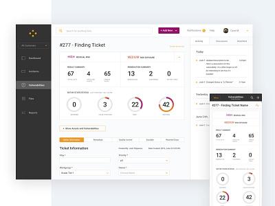 Security App Dashboard analytics metrics dashboard web app app