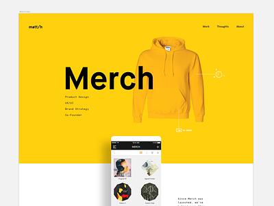 Portfolio Teaser 1 product ios musician merchandise case study clothing shopping portfolio
