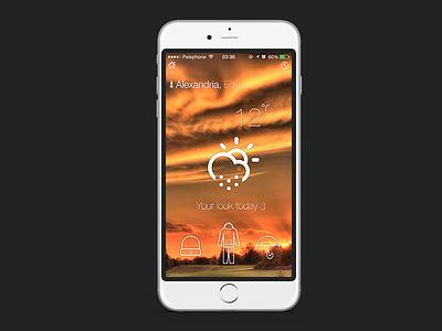 SkyWeather  ios iphone ui ux weather