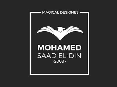 Mohamed Saad El Din Logo logo minimal minimalism ui ux falcon m