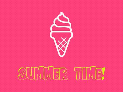 Summer Time cream ice summer