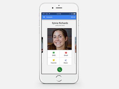 Google Contacts Concept ux ui iphone design material ios contacts google