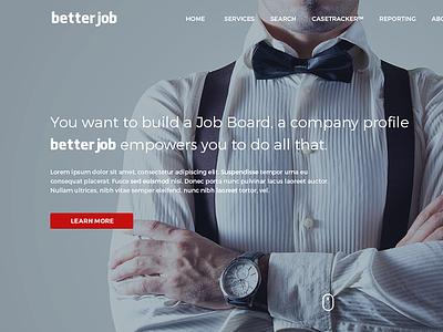 Job Portal flat ux ui design onepage job jobs