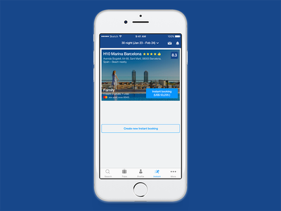 Instant Booking iphone ux ios payment booking