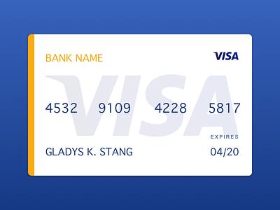 Visa debit credit concept bank payment visa